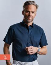 Men`s Short Sleeve Classic Twill Shirt