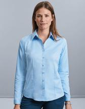 Ladies` Long Sleeve Tailored Herringbone Shirt
