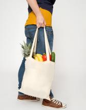 Cotton bag, natural, long handles, Basic