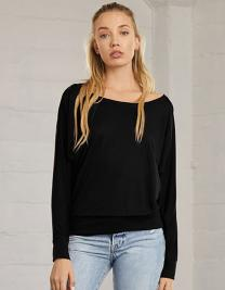 Flowy Long Sleeve Off The Shoulder Tee