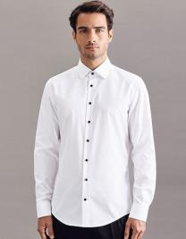Men`s Shirt Poplin Shaped Fit Longsleeve