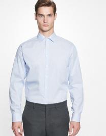 Men`s Shirt Slim Fit Check/Stripes Longsleeve
