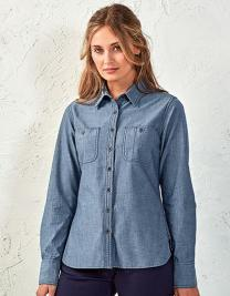 Women`s Organic Chambray Fairtrade Long Sleeve Shirt