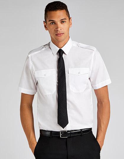 Men`s Tailored Fit Pilot Shirt Short Sleeve